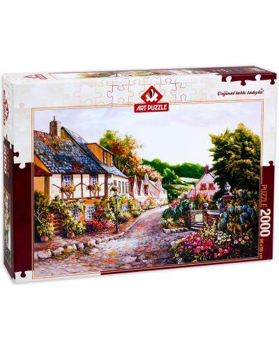 Пъзел Art Puzzle от 2000 части - Градът, Карл Валенте - 1