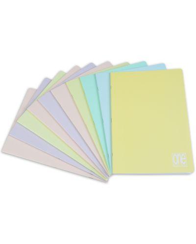 Комплект от 10 тетрадки Blasetti One Color Pastello - A4, 42 листа, широки редове - 1