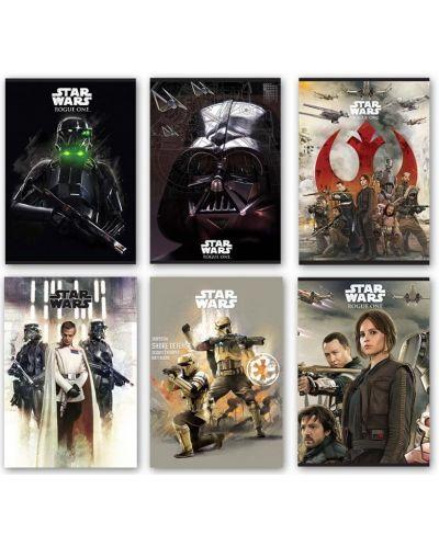 Комплект от 10 тетрадки Star Wars - А4, 54 листа, широки редове - 2