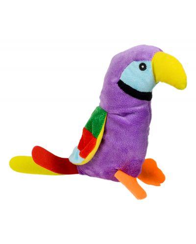 Плюшена играчка Morgenroth Plusch - Лилав папагал, 28 cm - 1
