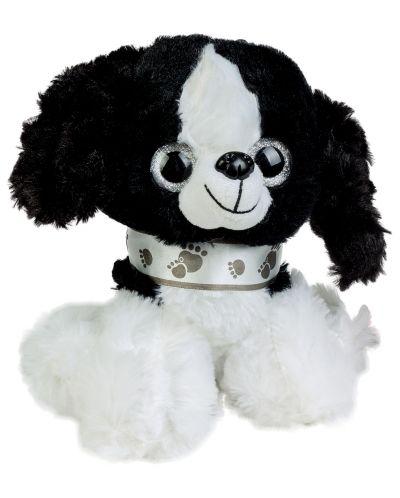 Плюшена играчка Morgenroth Plusch - Бяло кученце, 20 cm - 1