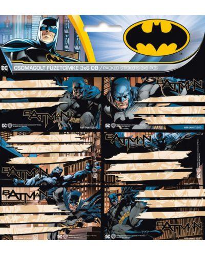 Ученически етикети Ars Una Batman - 18 броя - 1