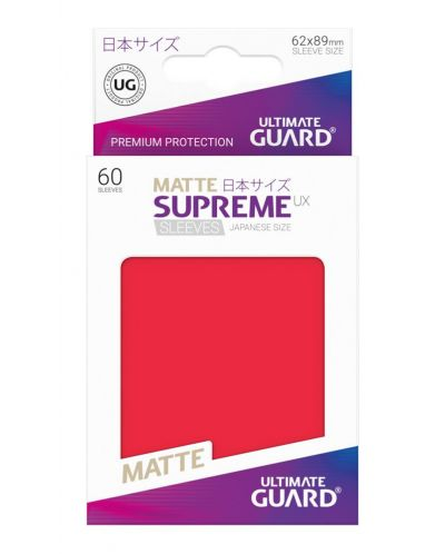 Ultimate Guard Supreme UX Sleeves Yu-Gi-Oh! Matte Red (60) - 3