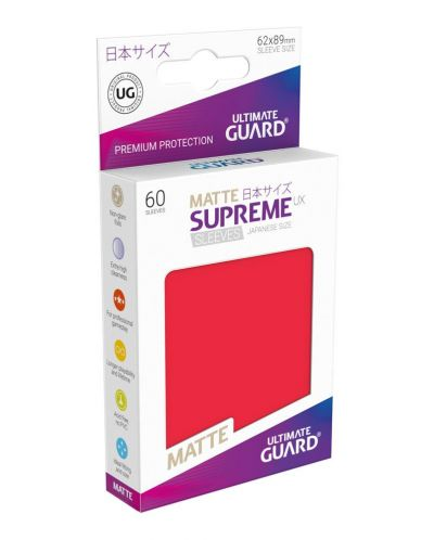 Ultimate Guard Supreme UX Sleeves Yu-Gi-Oh! Matte Red (60) - 1