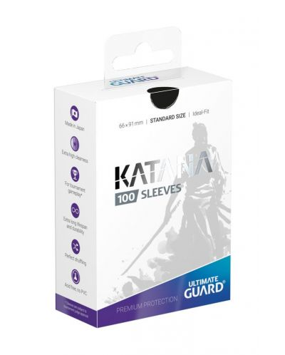 Ultimate Guard Katana Sleeves Standard Size Black (100) - 1