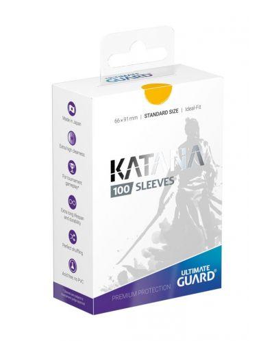 Ultimate Guard Katana Sleeves Standard Size Yellow (100) - 1