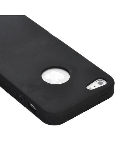 UltraThin Silicone Case  за iPhone 5 - черен - 4