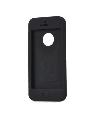 UltraThin Silicone Case  за iPhone 5 - черен - 3