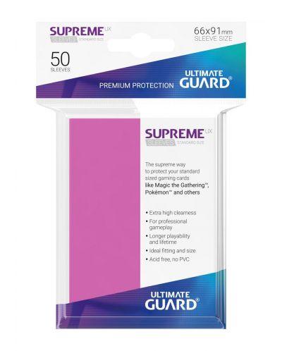 Протектори Ultimate Guard Supreme UX Sleeves - Standard Size - Розови (50 бр.) - 3