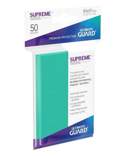 Протектори Ultimate Guard Supreme UX Sleeves - Standard Size - Тюркоазени (50 бр.) - 1