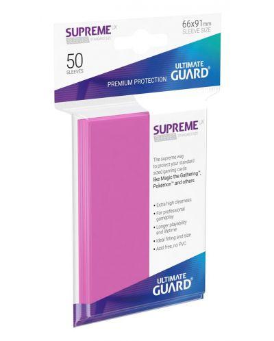 Протектори Ultimate Guard Supreme UX Sleeves - Standard Size - Розови (50 бр.) - 1