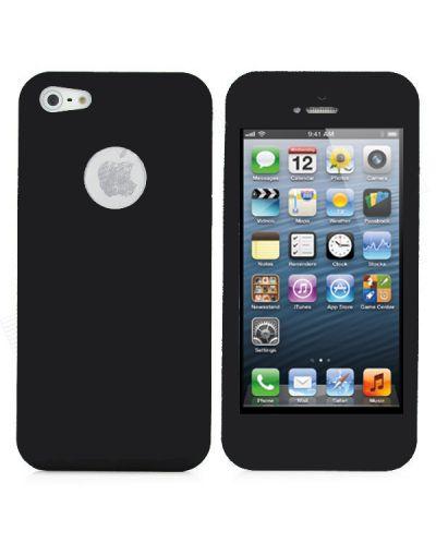 UltraThin Silicone Case  за iPhone 5 - черен - 1