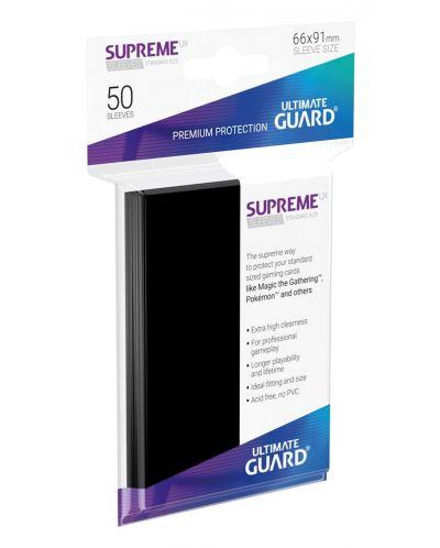 Протектори Ultimate Guard Supreme UX Sleeves - Standard Size - Черни (50 бр.) - 1