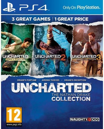 Uncharted: The Nathan Drake Collection - Пакет от 3 игри (PS4) - 3