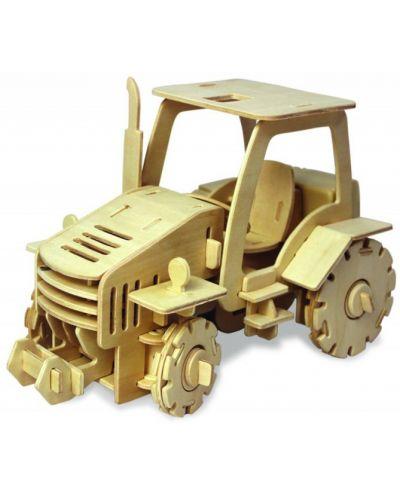 Дървен 3D пъзел Robo Time от 120 части – Трактор с RC управление - 1