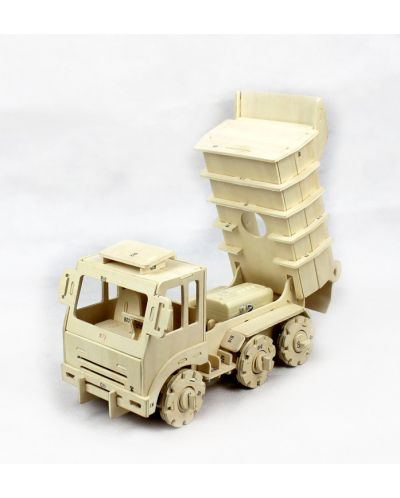 Дървен 3D пъзел Robo Time от 88 части - Самосвал с RC управление - 2