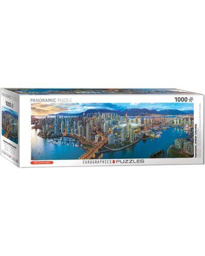 Панорамен пъзел Eurographics от 1000 части - Ванкувър - 1