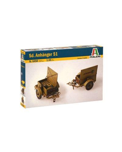 Военен сглобяем модел - Германско ремарке тип SD. ANHANGER 51 - 1