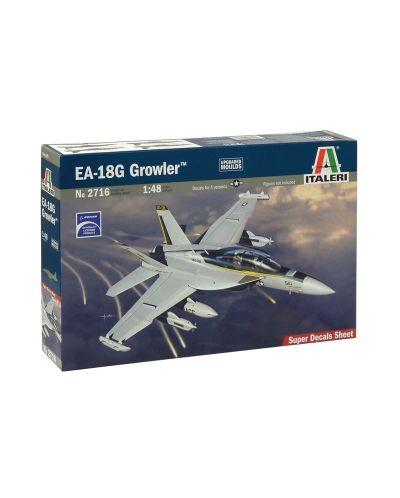 """Военен сглобяем модел - Американски палубен самолет за радио-електронна борба Боинг Е/Ф-18 """"Гроулър"""" (Boeing E/F-18G GROWLER) - 1"""