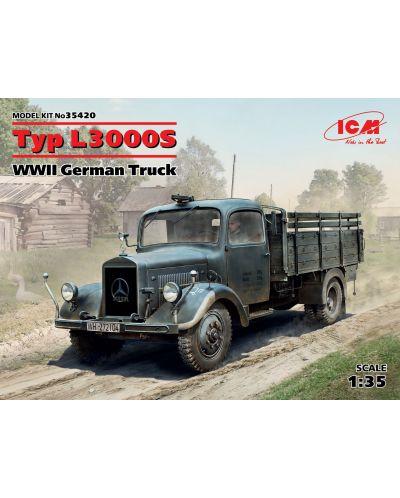 Военен сглобяем модел - Германски военен камион Мерцедес Тип Л3000С (Typ L3000S, WWII German Truck) (100% нови отливки) - 1