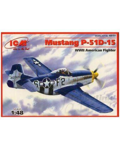 Военен сглобяем модел - Изтребител на САЩ Мустанг П-51Д-15 (Mustang P-51D-15) - 1