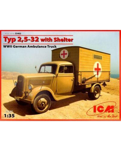 Военен сглобяем модел - Германски санитарно-спасителен камион Opel Typ 2,5-32 - 1