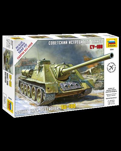 Военен сглобяем модел - Съветска Самоходна Артилерийска Установка СУ-100 - 1
