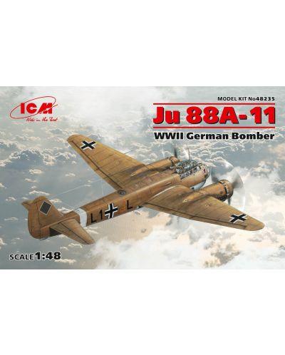 Военен сглобяем модел - Германски бомбардировач Юнкерс Ю 88А-11 (German Bomber Ju 88A-11, WWII) - 1