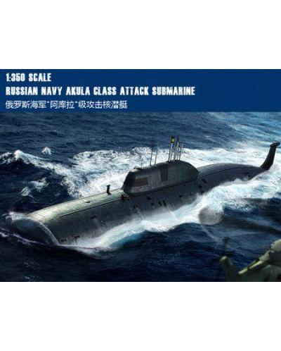 Военен сглобяем модел - Руска подводница ССН Акула (SSN Akula Class Attack Submarine) - 1