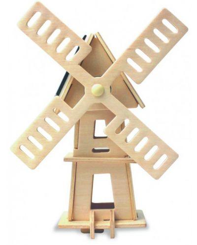 Дървен 3D пъзел Robo Time от 16 части – Соларна вятърна мелница 2 - 1