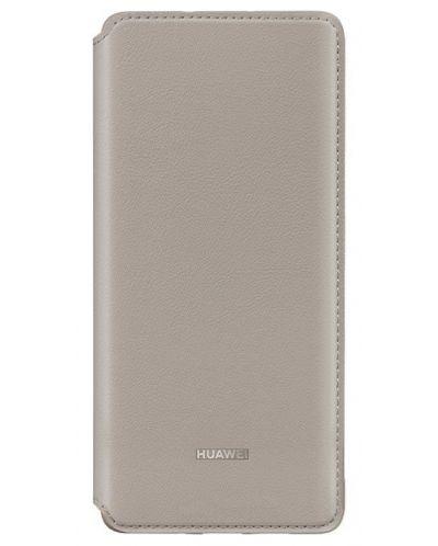 Калъф Huawei - Vogue P30 Pro, Wallet Cover, khaki - 1
