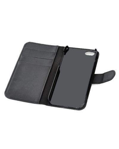 Wallet Flip Case за iPhone 5 -  черен - 4