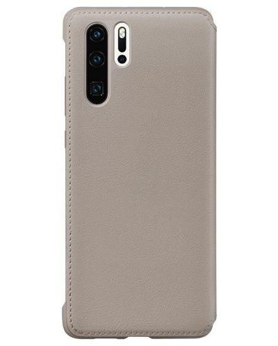 Калъф Huawei - Vogue P30 Pro, Wallet Cover, khaki - 2