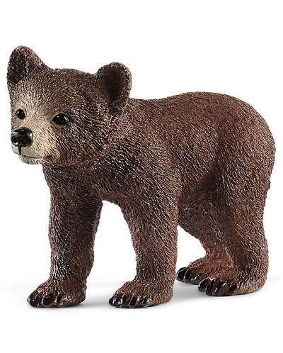Комплект фигурки Schleich Wild Life - Майка мечка гризли с малко - 2