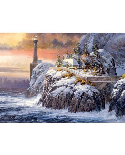Пъзел Cobble Hill от 1000 части - Фар през зимата, Дъглас Лейрд - 1