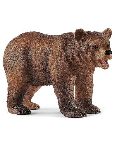 Комплект фигурки Schleich Wild Life - Майка мечка гризли с малко - 3