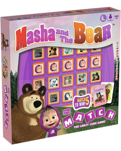 Игра с карти и кубчета Top Trumps Match - Маша и Мечокът - 2