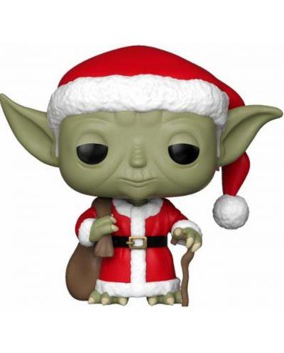 Фигура Funko Pop! Star Wars: Holiday Santa Yoda (Bobble-Head), #277 - 1