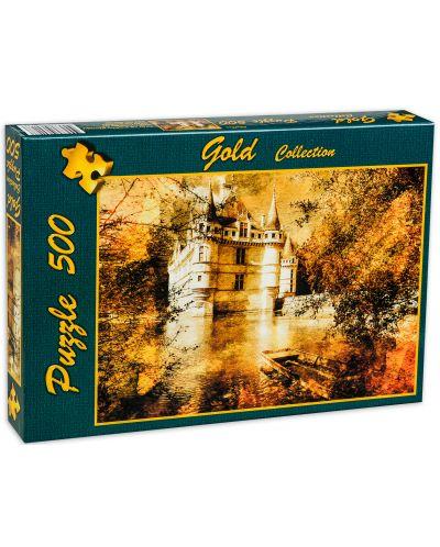 Пъзел Gold Puzzle от 500 части - Замъкът на Азай - 2