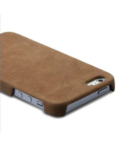 Zenus Prestige Vintage Leather Bar за iPhone 5 -  кафяв - 4