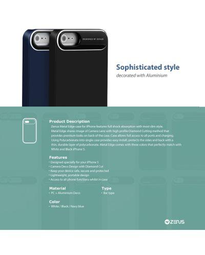 Zenus Metal Edge за iPhone 5 -  бял - 5