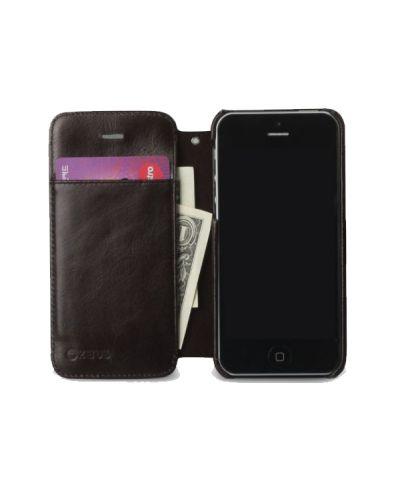 Zenus Prestige Estime Diary за iPhone 5 -  тъмнокафяв - 2