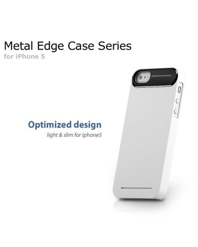 Zenus Metal Edge за iPhone 5 -  бял - 6
