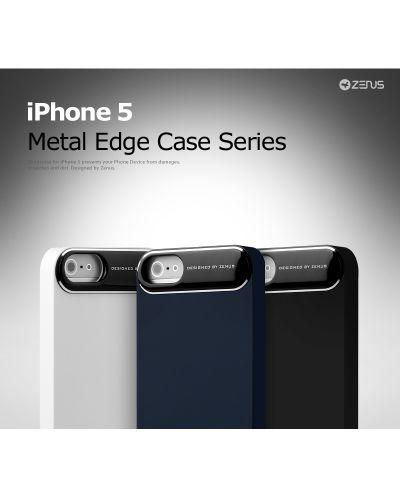 Zenus Metal Edge за iPhone 5 -  бял - 4
