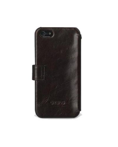 Zenus Prestige Estime Diary за iPhone 5 -  тъмнокафяв - 5