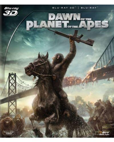 Зората на Планетата на маймуните 3D (Blu-Ray) - 1