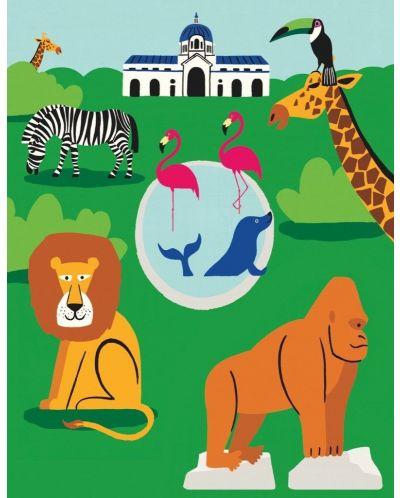Мини пъзел New York Puzzle от 100 части - Зоологическа градина - 1
