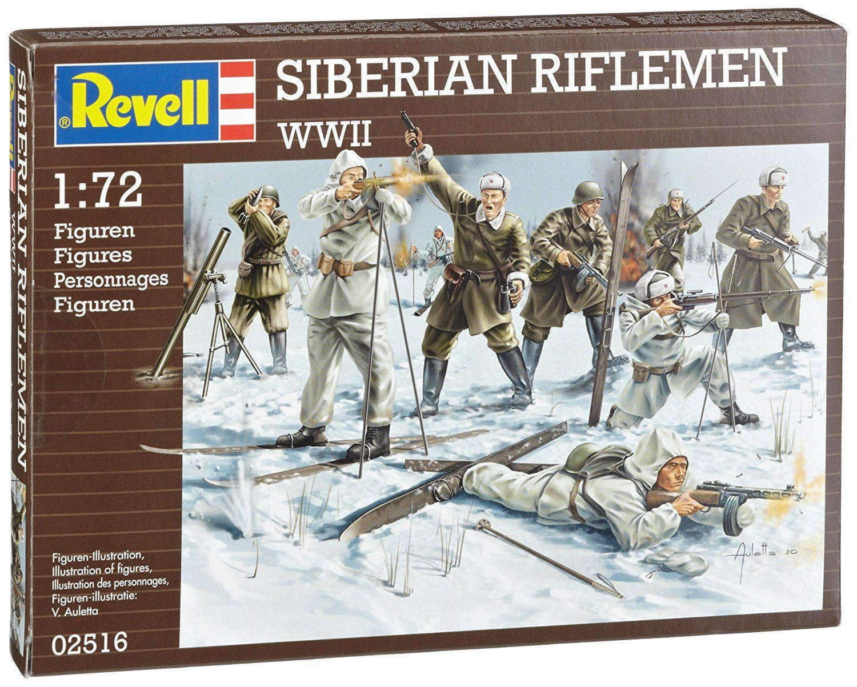 Фигури Revell - Siberian Riflemen WWII (02516) - 1
