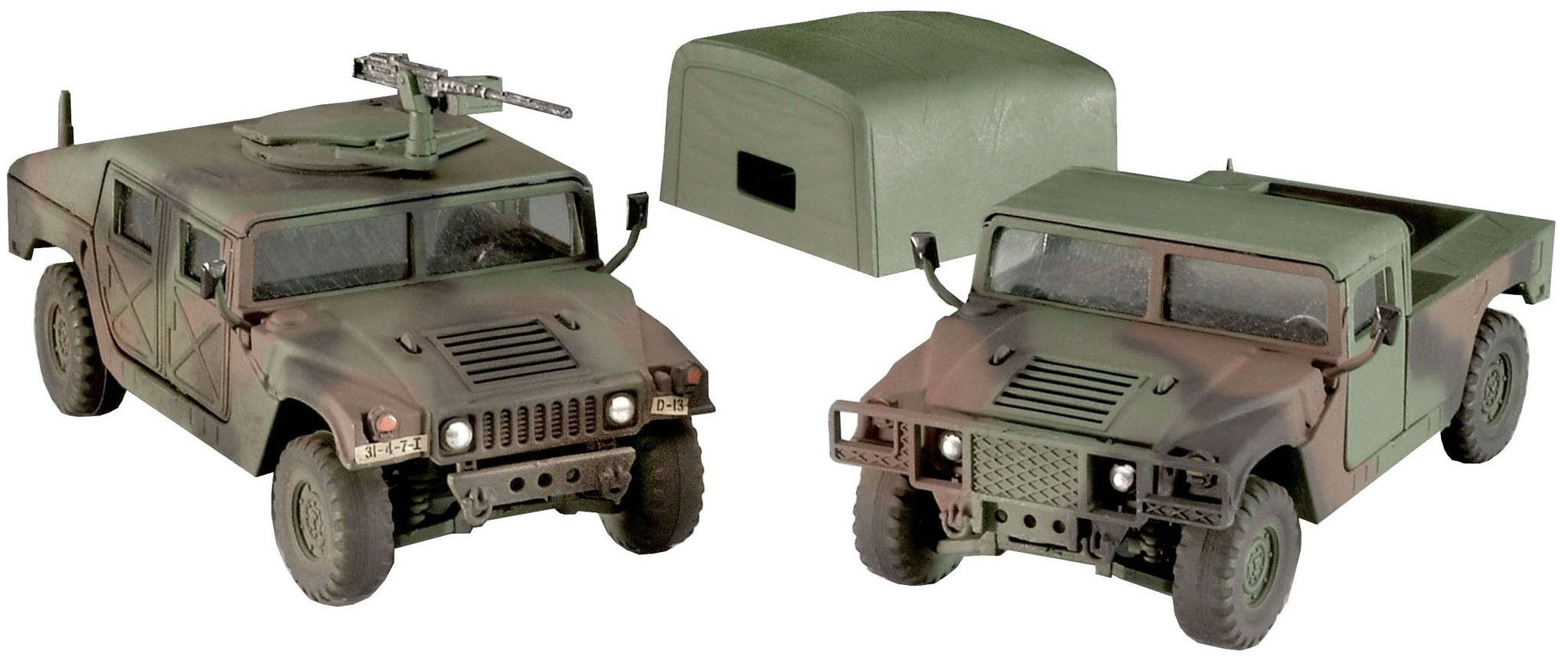Сглобяем модел на военни джипове Revell - HMMWV M998 & M1025 (03137) - 1