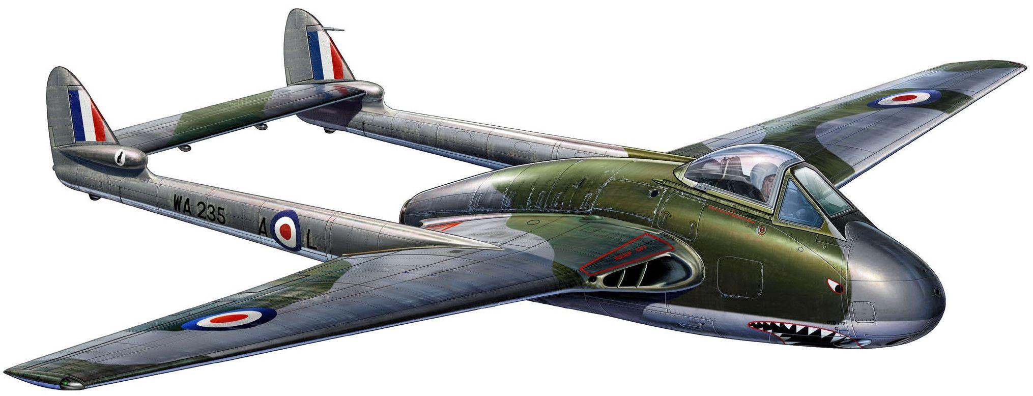 Сглобяем модел на военен самолет Revell -  de Havilland VAMPIRE FB.5 (03993) - 1